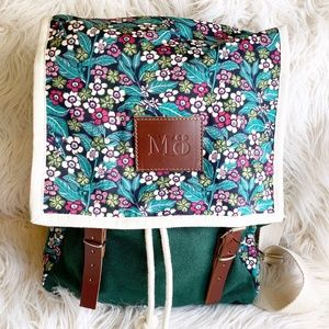 """Floral Backpack by Mo: """"Globby Bloom"""" Series"""
